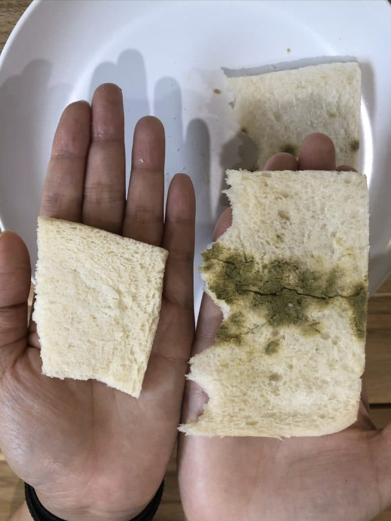 รูปตัวอย่างการทดลองสารป้องกันความชื้น demargo และ silicagel